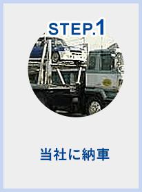 STEP.1 当社に納車